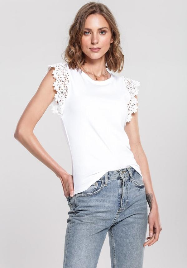 Bluzka Renee z krótkim rękawem w stylu casual z okrągłym dekoltem