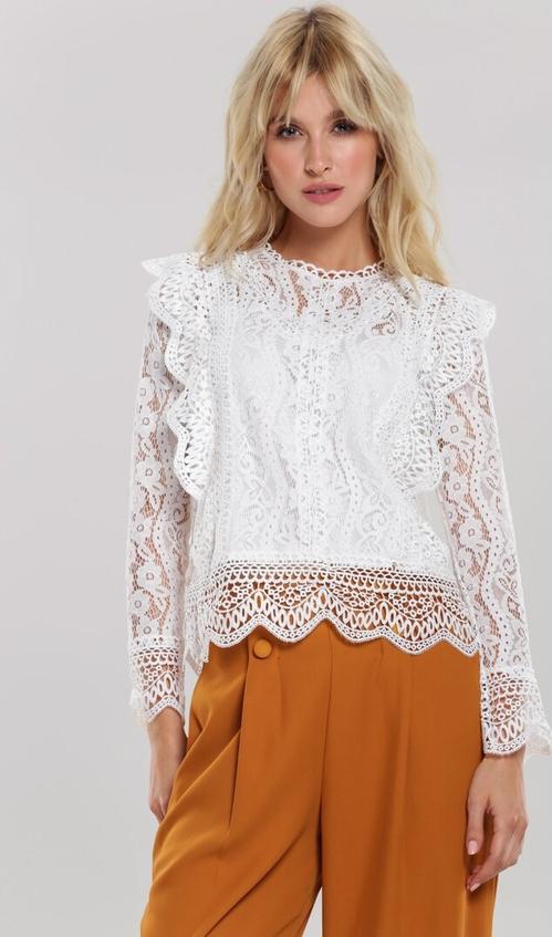 Bluzka Renee z okrągłym dekoltem w stylu boho