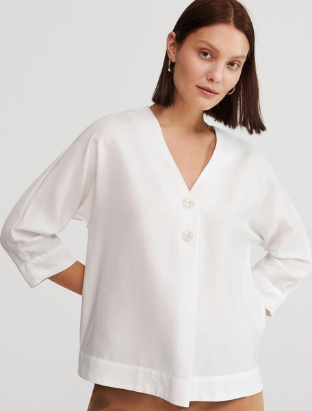 Bluzka Reserved z dekoltem w kształcie litery v