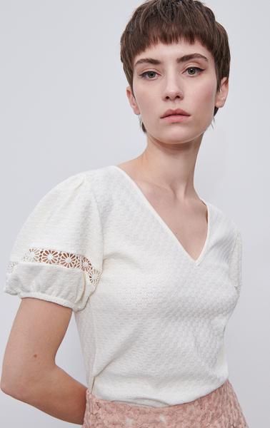 Bluzka Reserved z krótkim rękawem w stylu casual