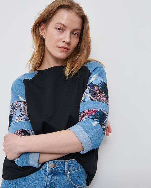 Bluzka Reserved z okrągłym dekoltem w młodzieżowym stylu