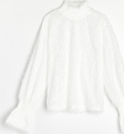 Bluzka Reserved z tkaniny z golfem