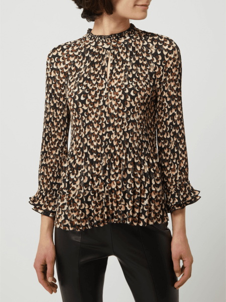 Bluzka S.Oliver Black Label z okrągłym dekoltem z długim rękawem
