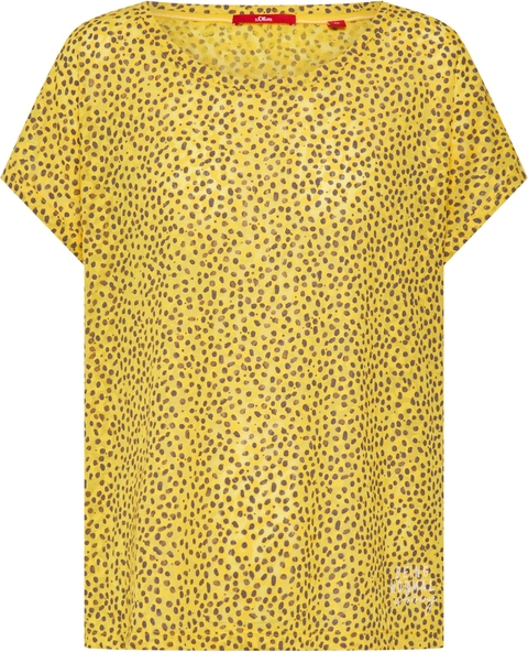 Bluzka S.Oliver Red Label z krótkim rękawem w stylu casual z okrągłym dekoltem