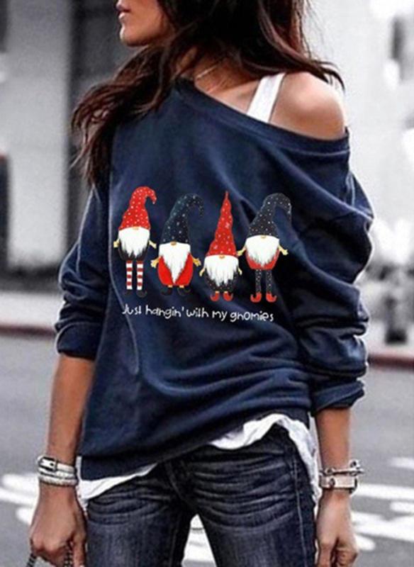 Bluzka Sandbella w bożonarodzeniowy wzór z długim rękawem