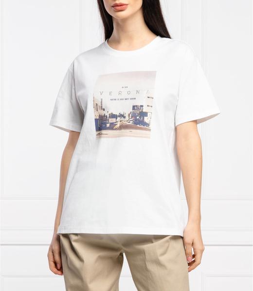 Bluzka Silvian Heach w młodzieżowym stylu z okrągłym dekoltem