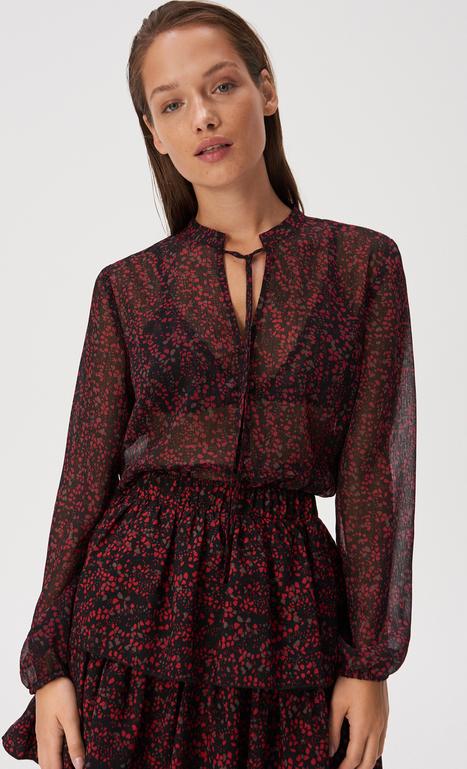Bluzka Sinsay w stylu boho ze sznurowanym dekoltem