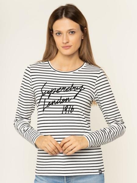 Bluzka Superdry z okrągłym dekoltem