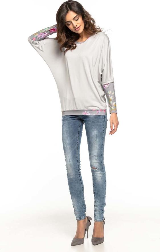Bluzka Tessita w stylu casual z okrągłym dekoltem z długim rękawem