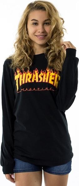 Bluzka Thrasher z okrągłym dekoltem z długim rękawem