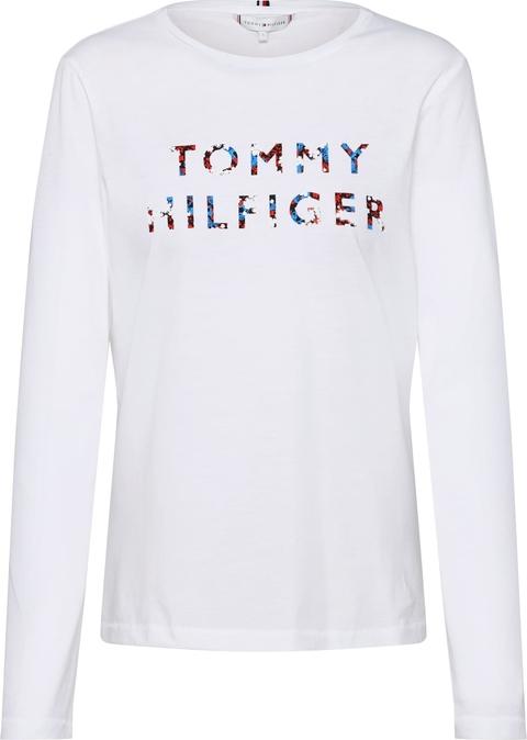 Bluzka Tommy Hilfiger z długim rękawem z dżerseju z okrągłym dekoltem
