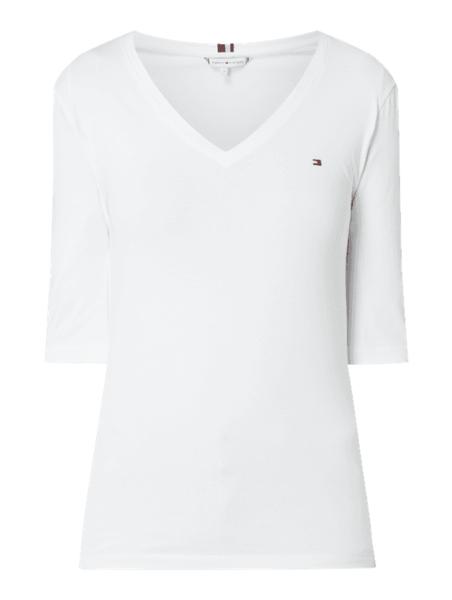 Bluzka Tommy Hilfiger z krótkim rękawem z bawełny
