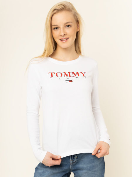 Bluzka Tommy Jeans w stylu casual z okrągłym dekoltem
