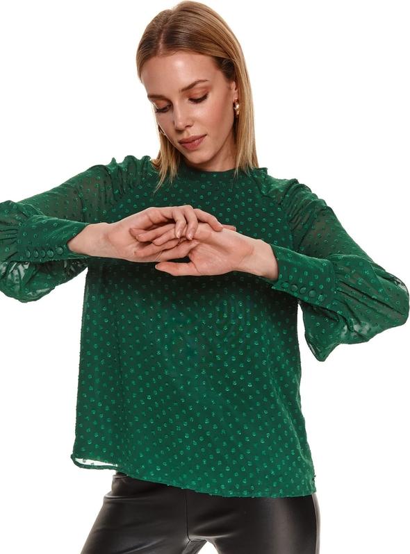 Bluzka Top Secret z tkaniny z okrągłym dekoltem
