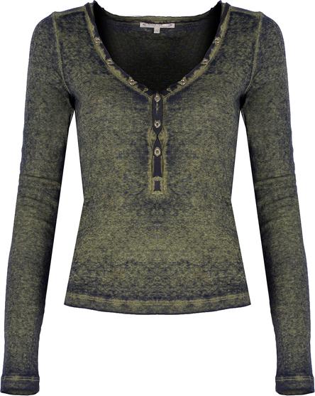 Bluzka ubierzsie.com z długim rękawem z tkaniny
