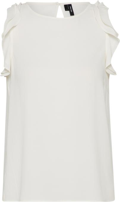 Bluzka Vero Moda z okrągłym dekoltem bez rękawów