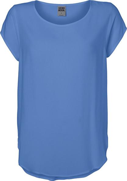 Bluzka Vero Moda z okrągłym dekoltem z krótkim rękawem