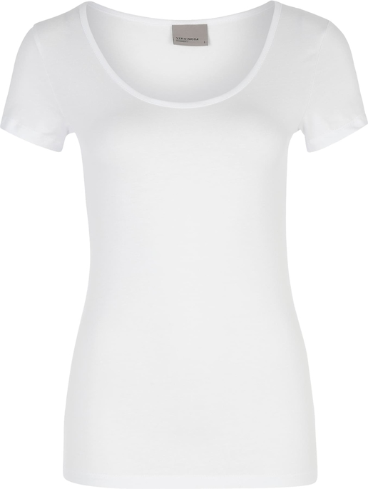 Bluzka Vero Moda z okrągłym dekoltem z krótkim rękawem z dżerseju