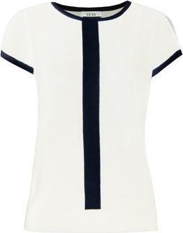 Bluzka Veva z okrągłym dekoltem z krótkim rękawem w młodzieżowym stylu