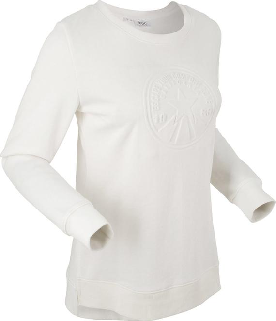 Bonprix bpc bonprix collection bluza z tłoczonym motywem, długi rękaw