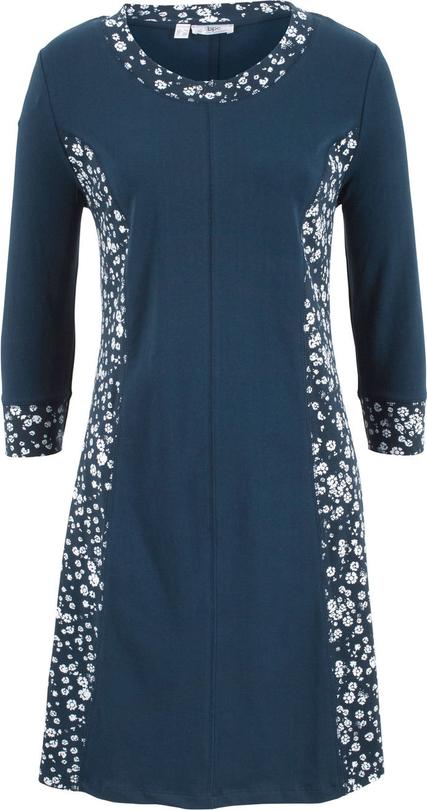 Bonprix bpc bonprix collection sukienka shirtowa z rękawami 3/4
