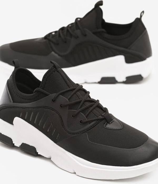 Born2be czarne buty sportowe the flood
