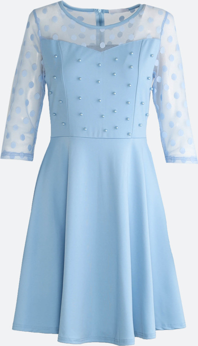 Born2be niebieska sukienka love dance