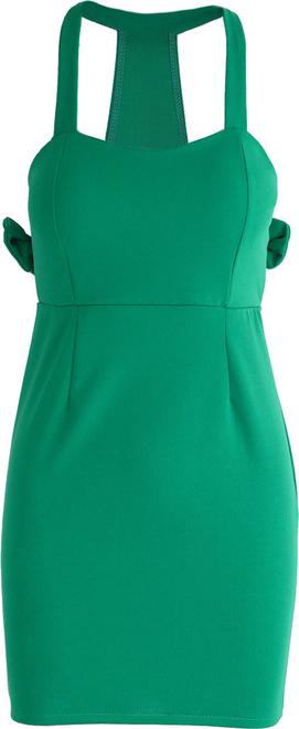 Born2be zielona sukienka aeroplane