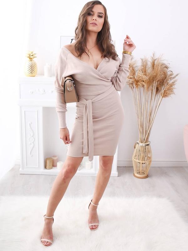 Brak Sukienka Amanda Bezowa