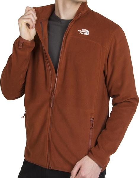 Brązowa bluza The North Face z plaru w sportowym stylu