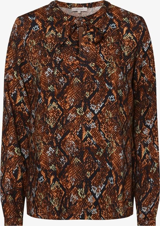 Brązowa bluzka Apriori z okrągłym dekoltem z długim rękawem