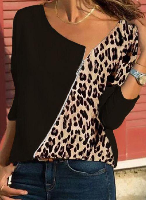 Brązowa bluzka Cikelly w stylu casual