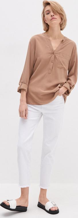 Brązowa bluzka House w stylu casual