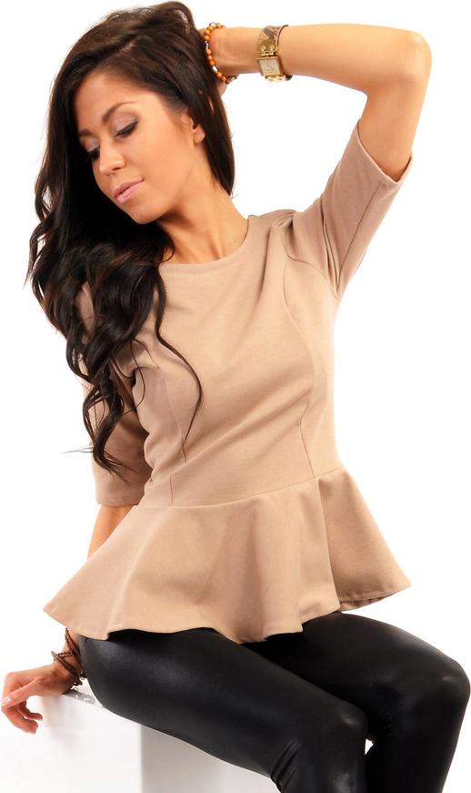 Brązowa bluzka MOE z bawełny