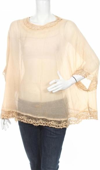 Brązowa bluzka Monica Sarti z okrągłym dekoltem