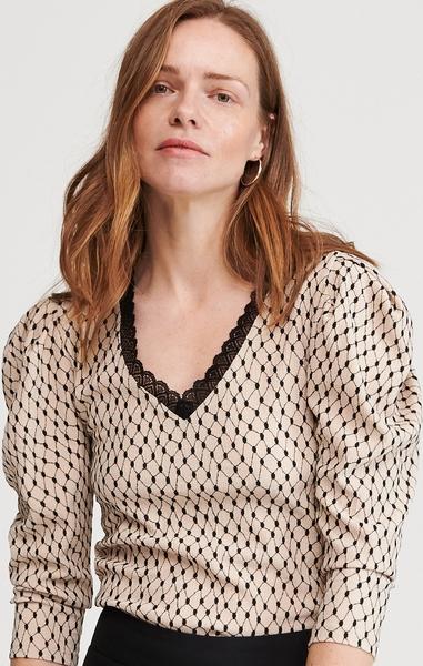 Brązowa bluzka Reserved w stylu casual