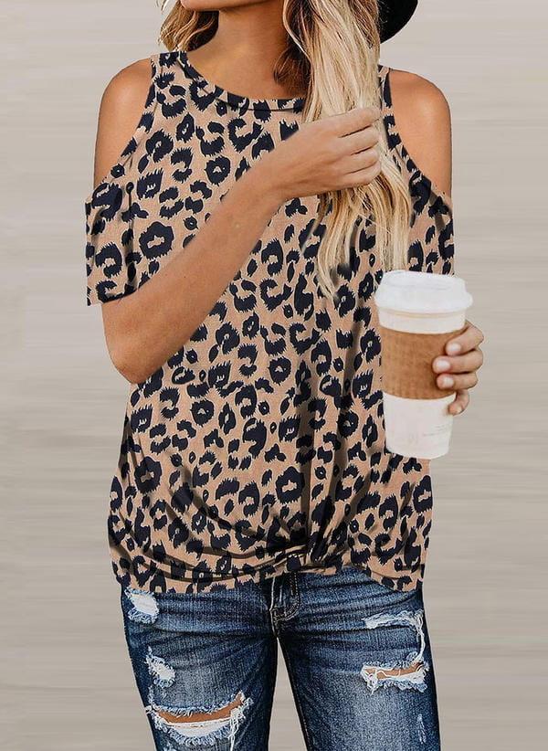 Brązowa bluzka Sandbella w stylu boho z długim rękawem
