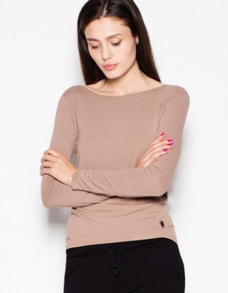 Brązowa bluzka Venaton w stylu casual