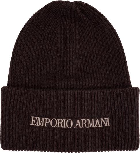 Brązowa czapka Emporio Armani