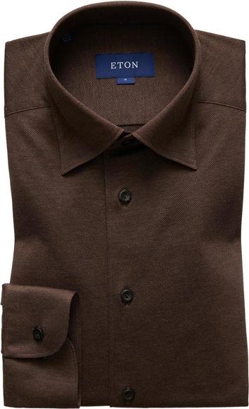 Brązowa koszula Eton z dżerseju