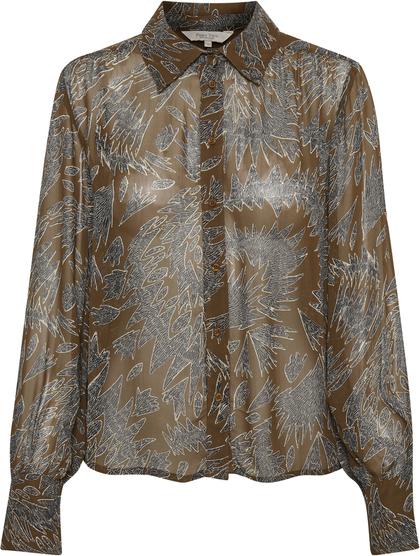Brązowa koszula Part Two w stylu casual
