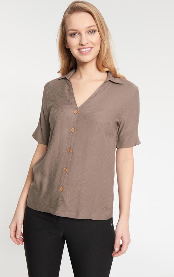 Brązowa koszula QUIOSQUE