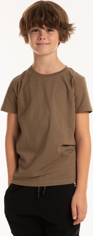 Brązowa koszulka dziecięca Gate z bawełny