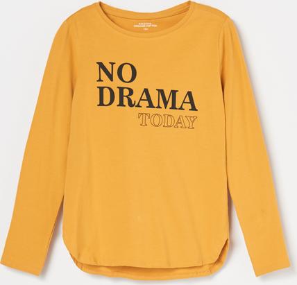 Brązowa koszulka dziecięca Reserved z bawełny