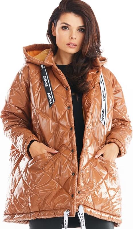 Brązowa kurtka Awama w stylu casual