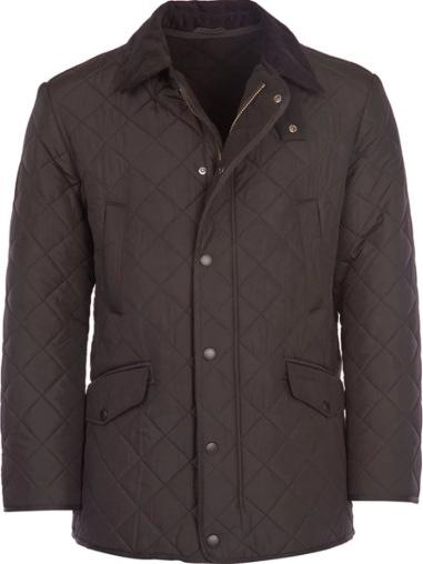Brązowa kurtka Barbour w stylu casual z plaru
