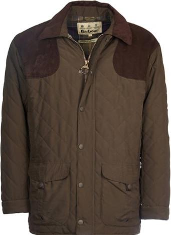 Brązowa kurtka Barbour w stylu casual z tkaniny