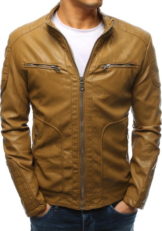 Brązowa kurtka Dstreet w stylu casual ze skóry ekologicznej