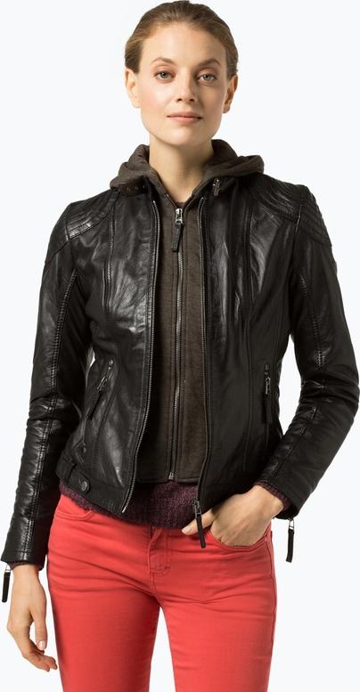 Brązowa kurtka Gipsy w stylu casual krótka ze skóry