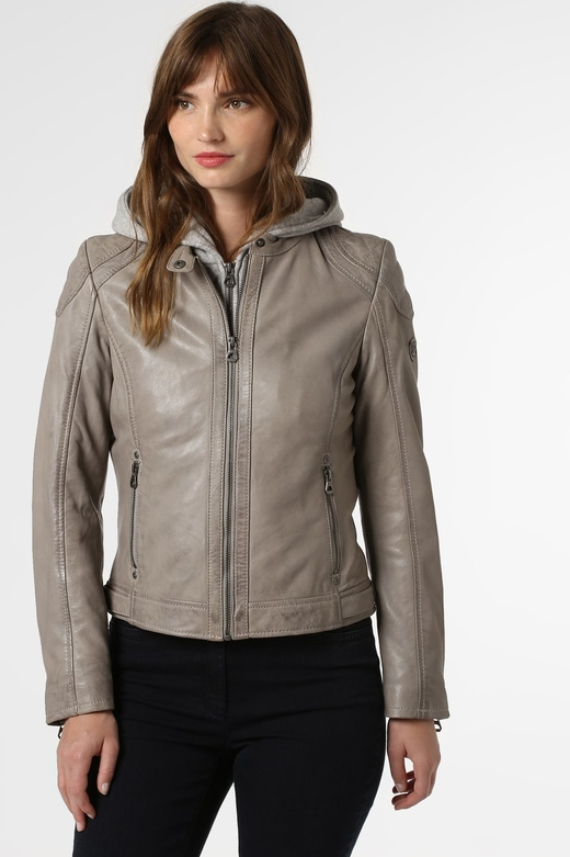Brązowa kurtka Gipsy ze skóry w stylu casual